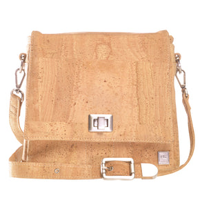 Vela | Natural Bark Vegan Leather 'Cork' LED Handbag