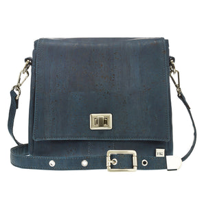 Fabrikk VELA Cork LED Handbag  | Navy Blue | Vegan Leather