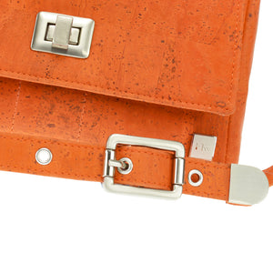 Vela | Orange Vegan Leather 'Cork' LED Handbag