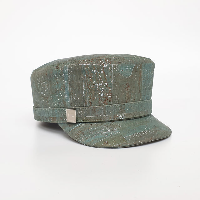 Fabrikk Cork 'Love Train' Hat | Aqua Silver | Vegan Leather