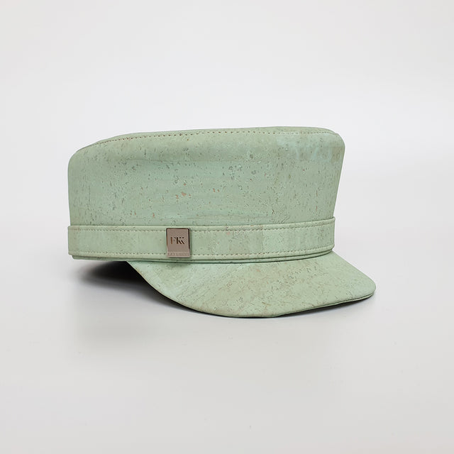 Fabrikik Cork 'Love Train' Hat | Mint Green | Vegan Leather