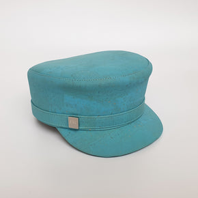 Fabrikk Cork 'Love Train' Hat | Bahama Blue | Vegan Leather