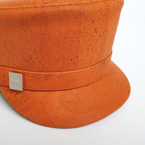 Fabrikk Cork 'Love Train' Hat | Orange | Vegan Leather