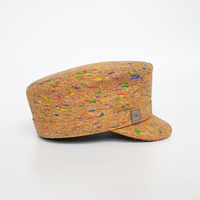 Fabrikk Cork 'Love Train' Hat | Multicoloured Fleck | Vegan Leather