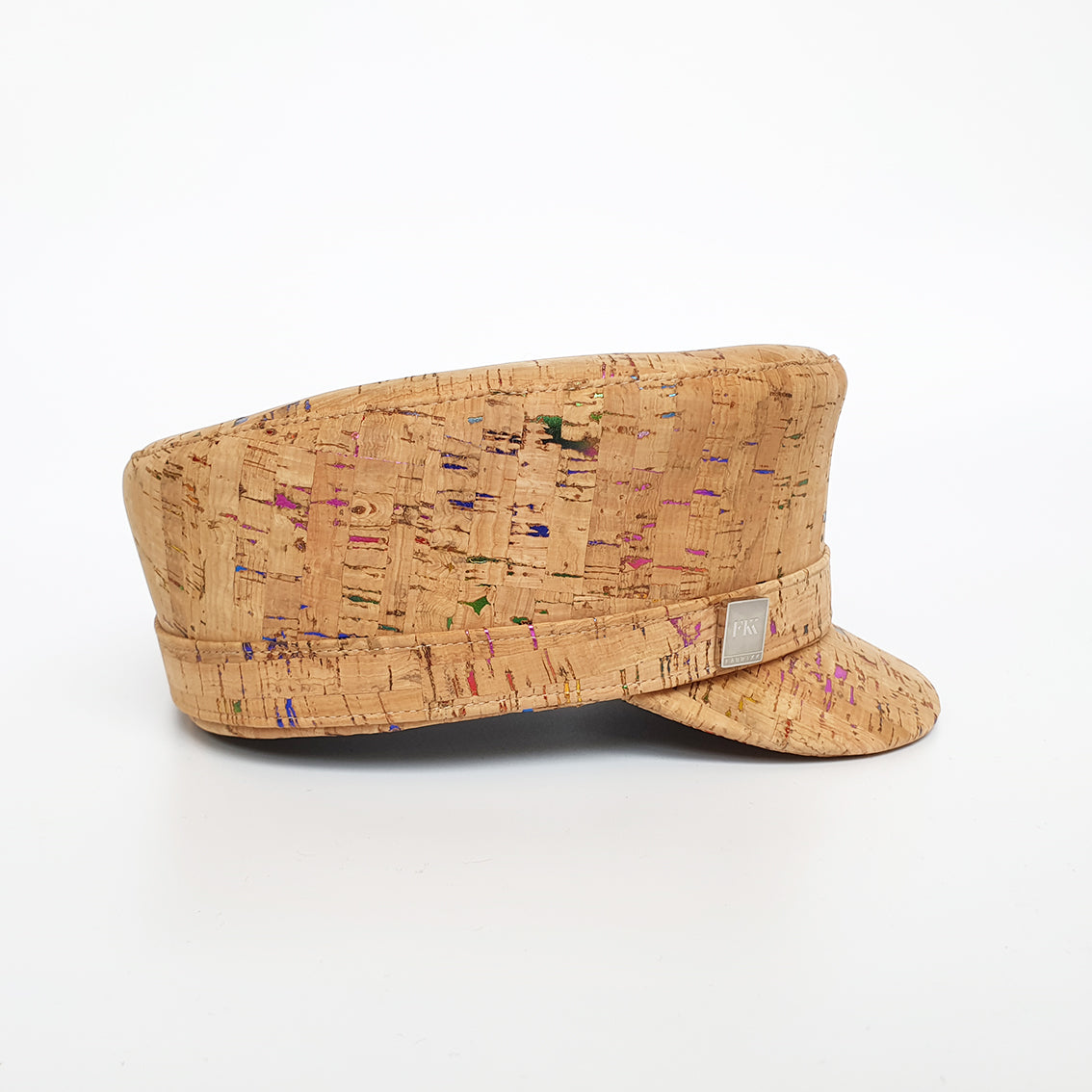 Fabrikk Cork 'Love Train' Hat | Multicoloured Metallic Fleck | Vegan Leather