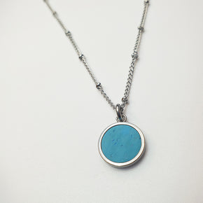 Fabrikk 1 Small Planet Necklace | Bahama Blue | Vegan 'Leather'
