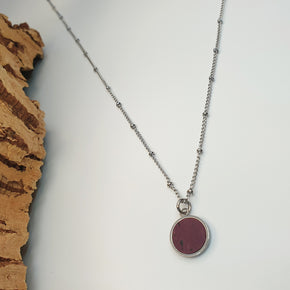 Fabrikk 1 Small Planet Necklace | Purple Music | Vegan 'Leather'