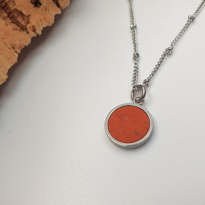 Fabrikk 1 Small Planet Necklace | Orange | Vegan 'Leather'