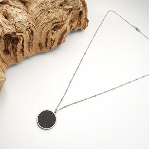 Fabrikk 1 Planet Necklace | Coal Black | Vegan 'Leather'