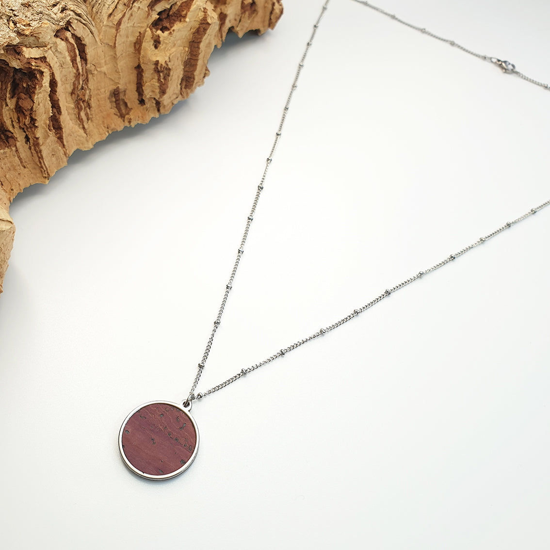 Fabrikk 1 Planet Necklace | Purple Music | Vegan 'Leather'