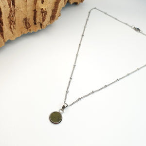 Fabrikk Dwarf Planet Necklace | Army Green | Vegan 'Leather'