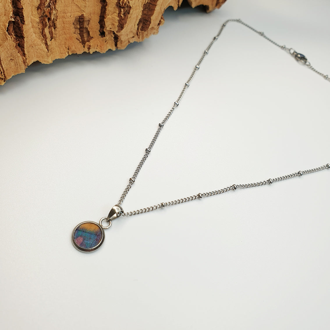 Fabrikk Dwarf Planet Necklace | Cosmic Splash | Vegan 'Leather'