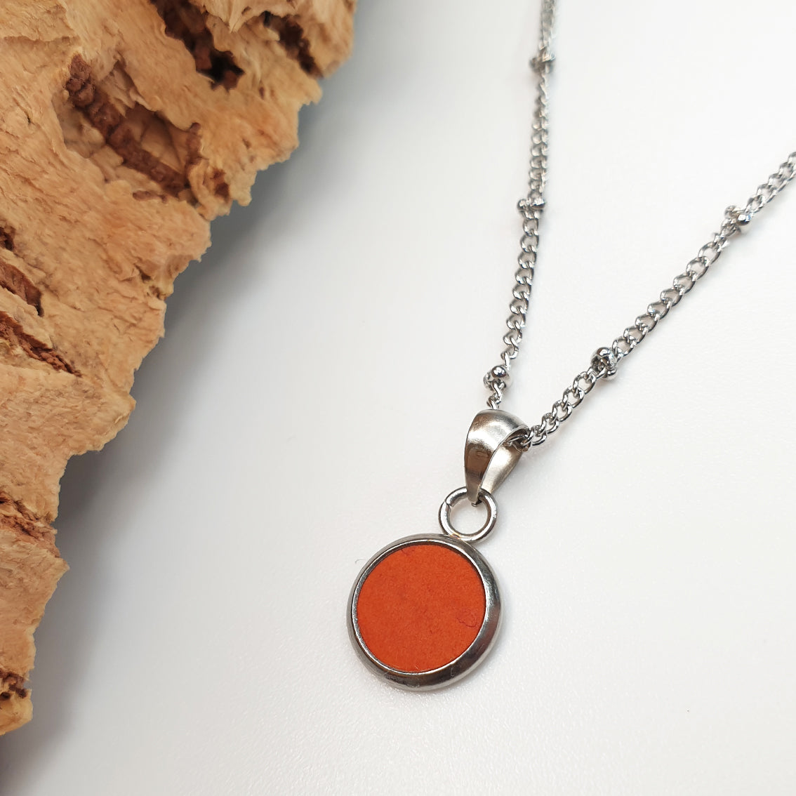 Fabrikk Dwarf Planet Necklace | Orange | Vegan 'Leather'