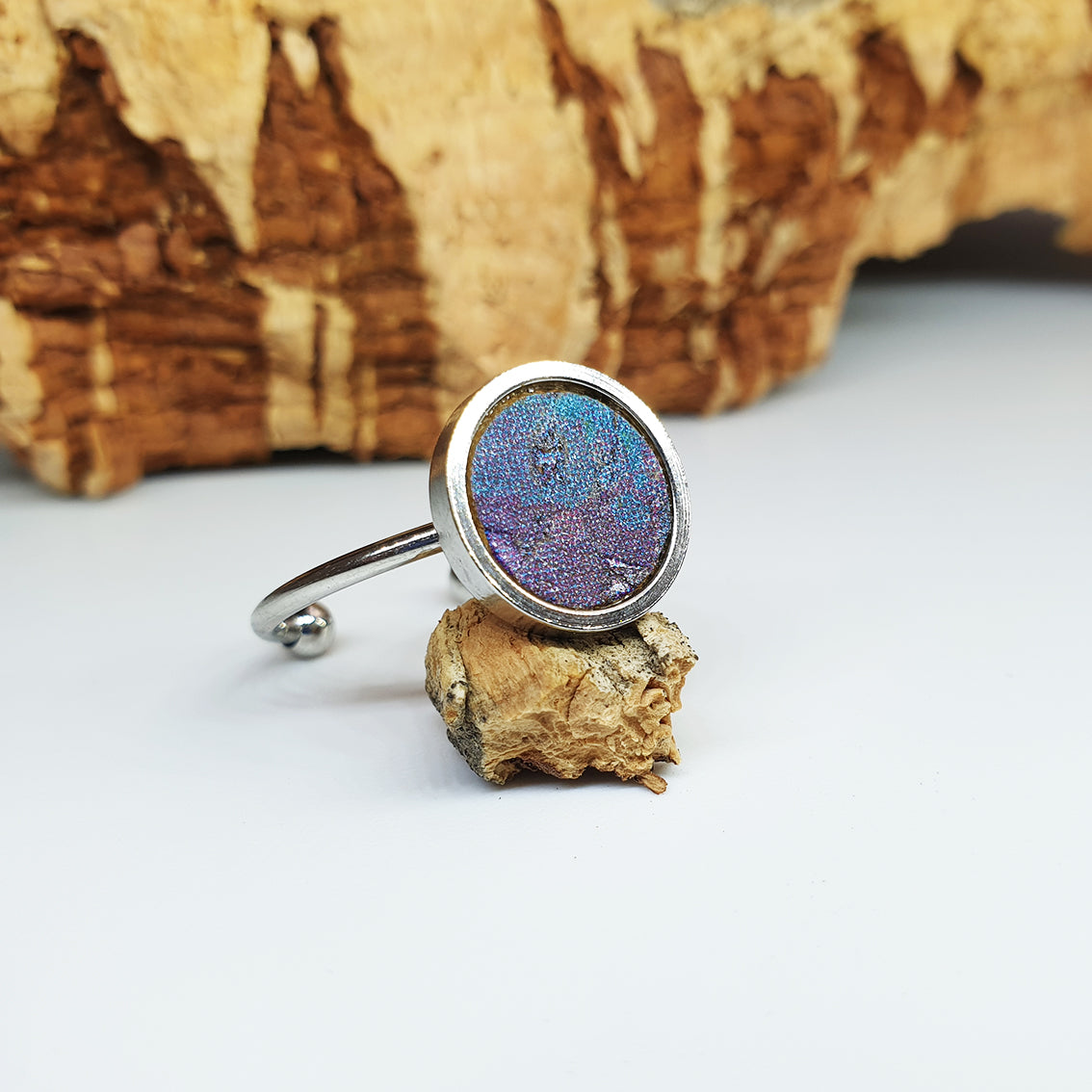 Fabrikk 1 Planet Stacking Ring Set | Small-Medium-Large | Cosmic Splash Purple | Vegan Leather