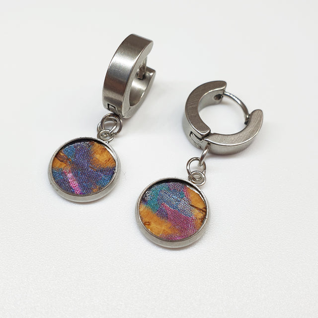 Fabrikk 1 Dwarf Planet Earrings | Cosmic Splash Purple | Vegan Leather