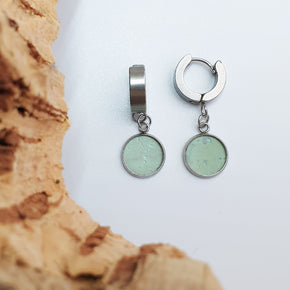 Fabrikk 1 Dwarf Planet Earrings | Mint Green | Vegan Leather