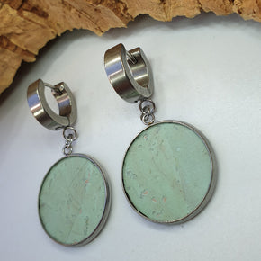 Fabrikk 1 Small Planet Earrings | Mint Green | Vegan Leather