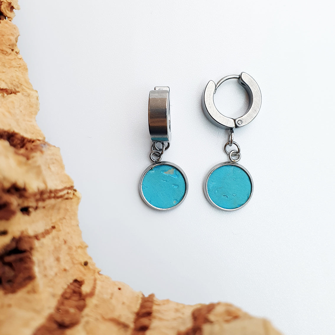 Fabrikk 1 Dwarf Planet Earrings | Bahama Blue | Vegan Leather