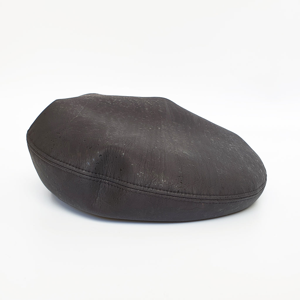 Fabrikk Cork Beret | Coal  Black | Vegan leather