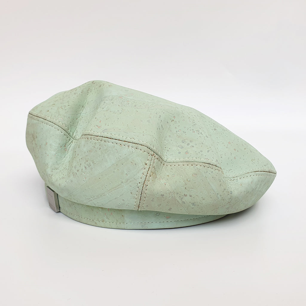 Fabrikk Cork Beret | Mint | Vegan leather