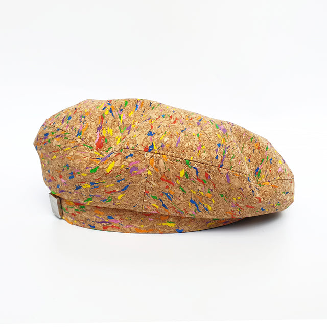 Fabrikk Cork Beret | Multicoloured Fleck | Vegan Leather