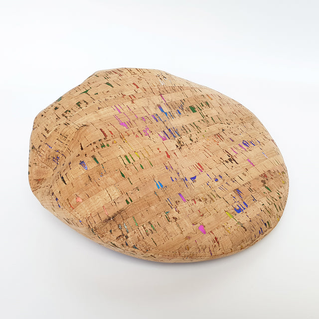 Fabrikk Cork Beret | Multicoloured Metallic Fleck | Vegan leather