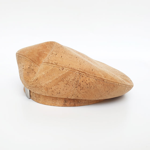 Fabrikk Cork Beret | Natural Bark | Vegan Leather