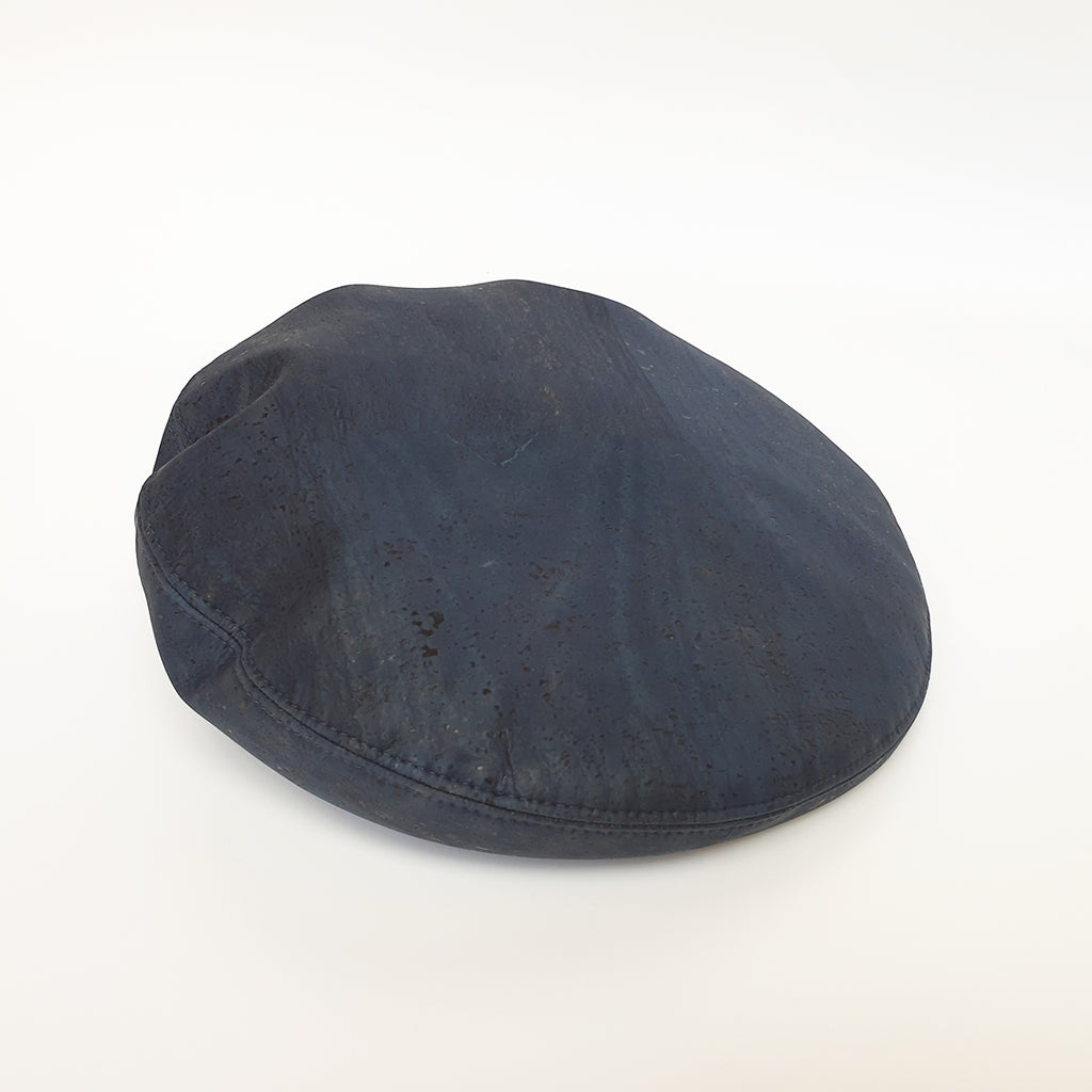 Fabrikk Cork Beret | Navy Blue | Vegan leather