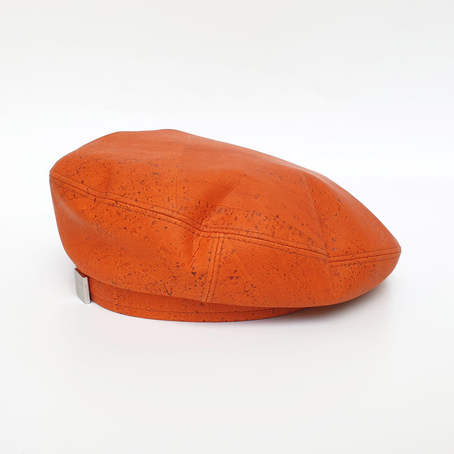 Fabrikk Cork Beret | Orange | Vegan Leather