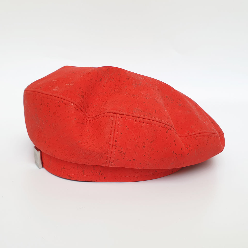 Fabrikk Cork Beret | Red | Vegan Leather