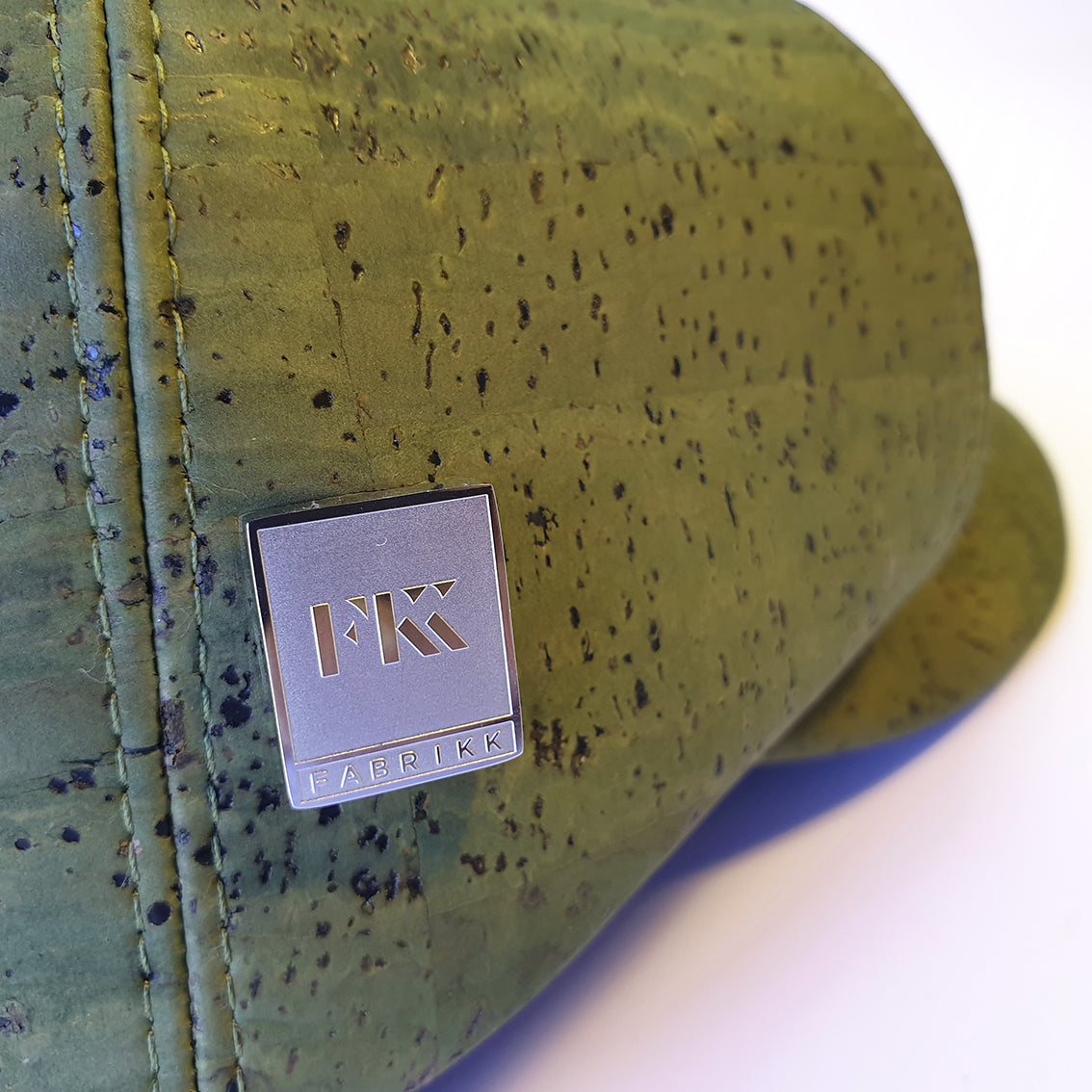 Fabrikk Cork Baker Boy Hat | Army Green | Vegan Leather
