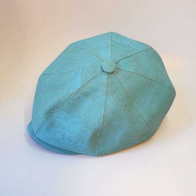 Fabrikk Cork Baker Boy Hat | Bahama Blue | Vegan Leather