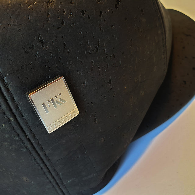 Fabrikk Cork Baker Boy Hat | Coal Back | Vegan Leather