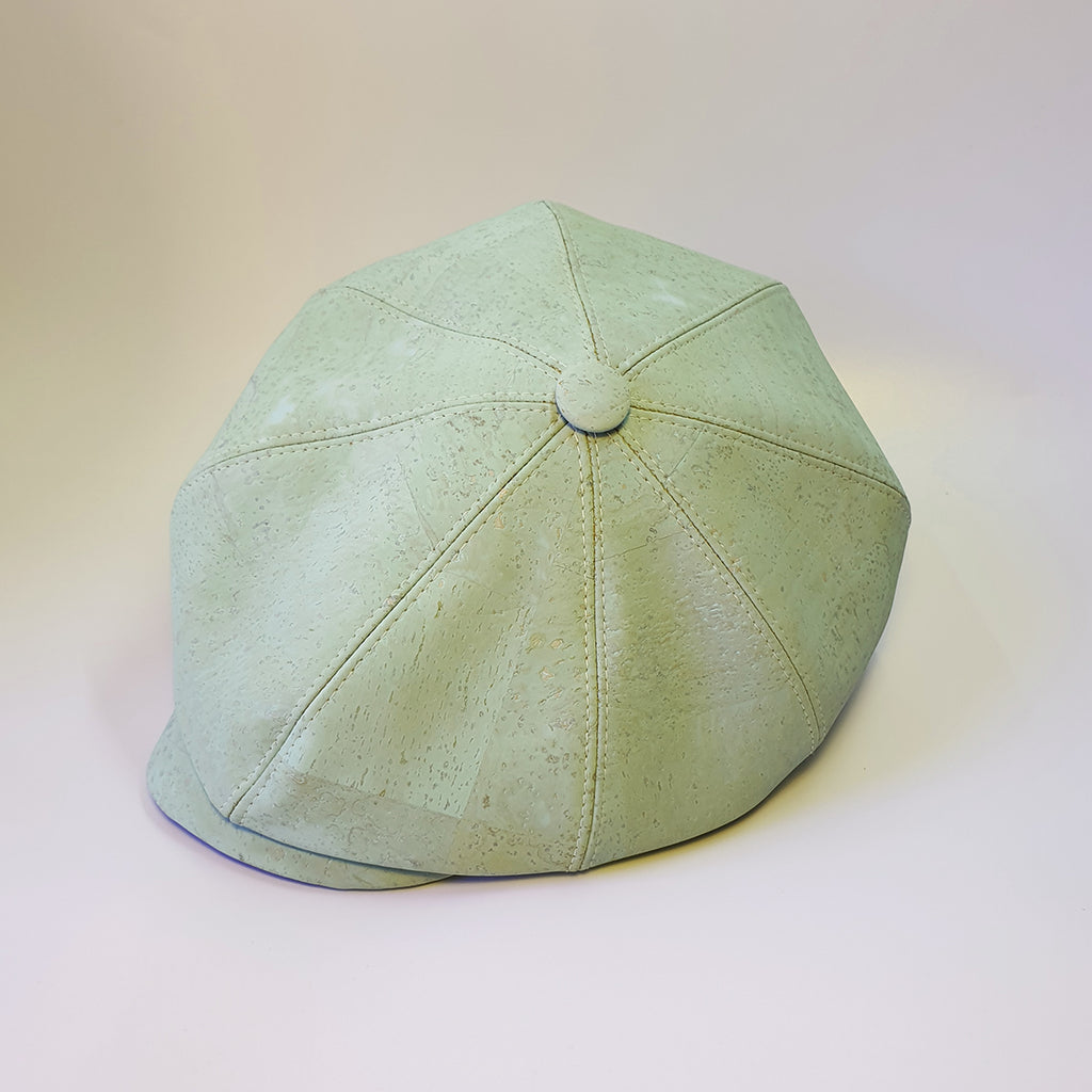 Fabrikk Cork Baker Boy Hat | Mint Green  | Vegan Leather