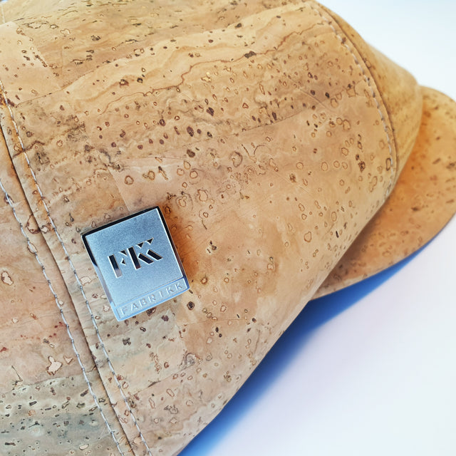 Fabrikk Cork Baker Boy Hat | Natural Bark | Vegan 'Leather'