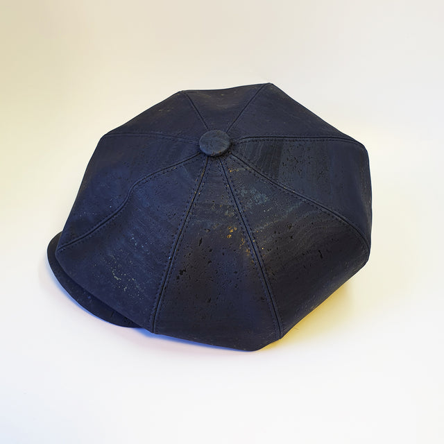 Fabrikk Cork Baker Boy Hat | Navy Blue | Vegan Leather