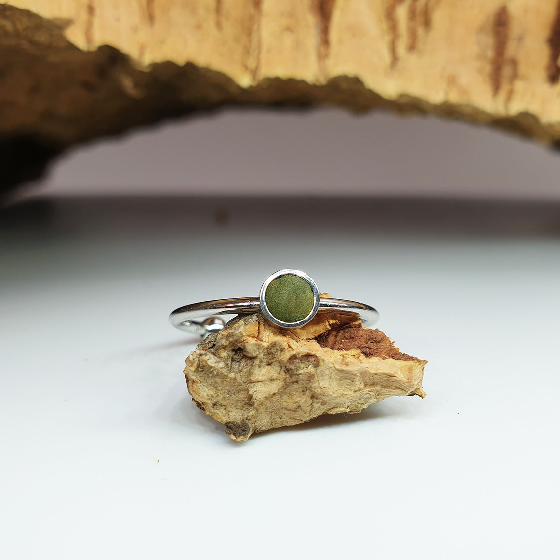 Fabrikk 1 Planet Stacking Ring | Small | Army Green | Vegan Leather
