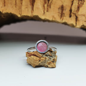 Fabrikk 1 Planet Stacking Ring | Medium | Cosmic Splash Pink |  Vegan Leather
