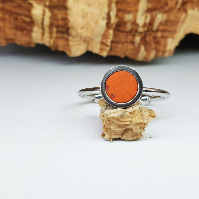 Fabrikk 1 Planet Stacking Ring | Medium | Orange |  Vegan Leather