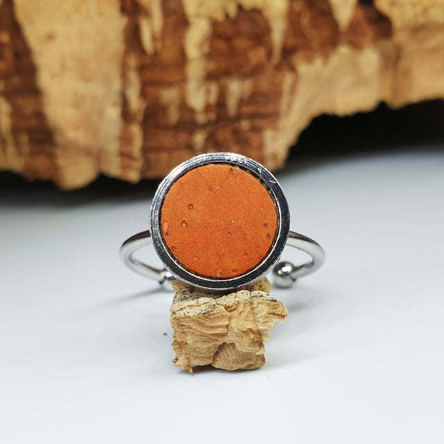 Fabrikk 1 Planet Stacking Ring | Large | Orange | Vegan Leather