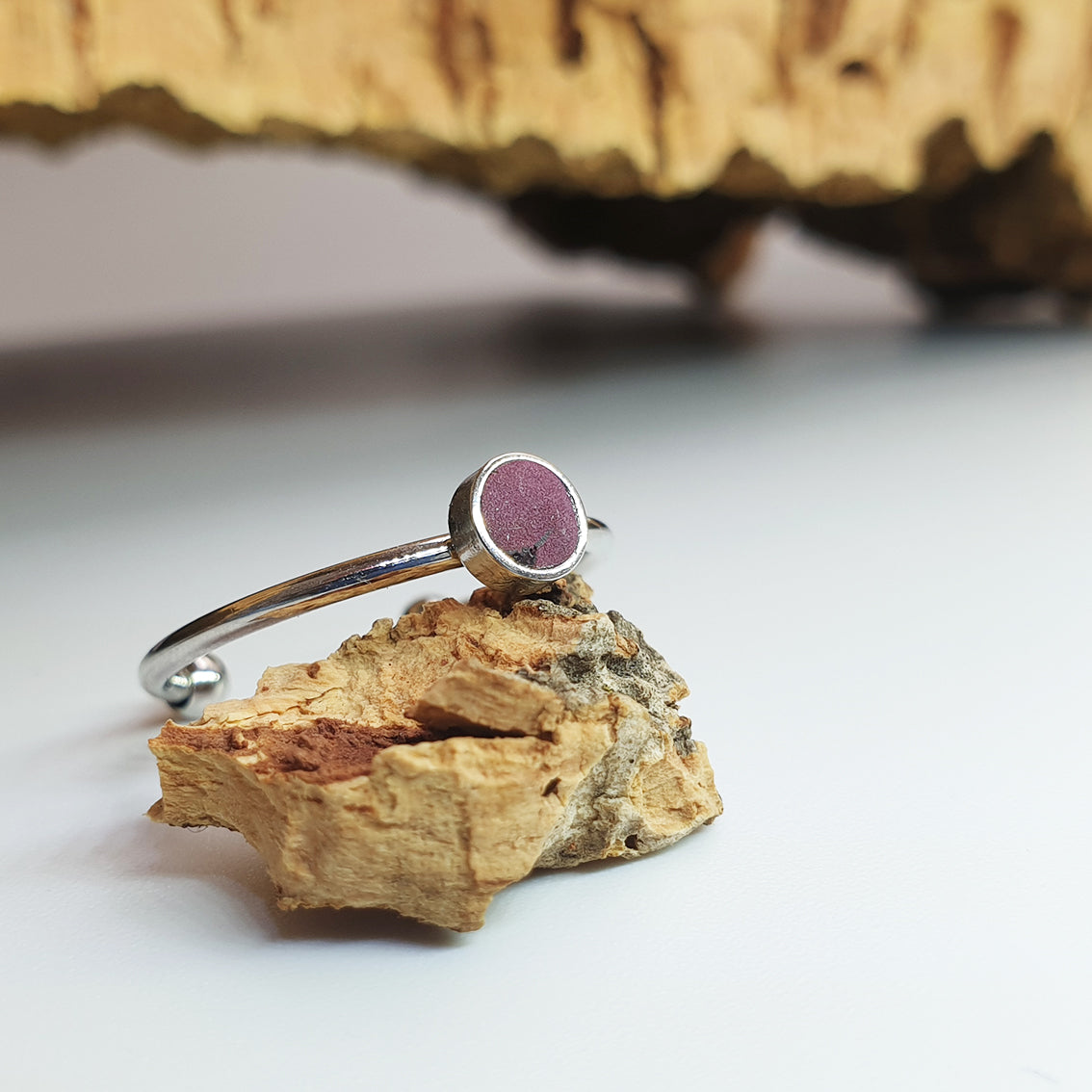 Fabrikk 1 Planet Stacking Ring Set | Small-Medium-Large | Purple Music | Vegan Leather
