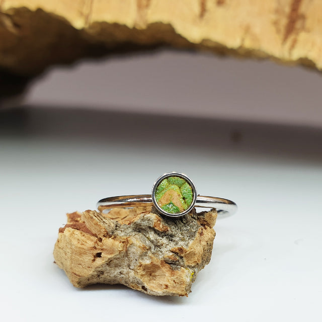 Fabrikk 1 Planet Stacking Ring | Small | Green Python Skin | Vegan Leather