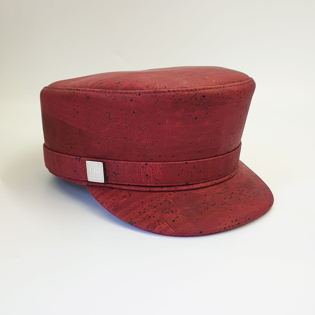 Fabrikk Cork 'Love Train' Hat | Burgundy Love | Vegan Leather