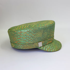 Fabrikik Cork 'Love Train' Hat | Green Python Skin | Vegan Leather