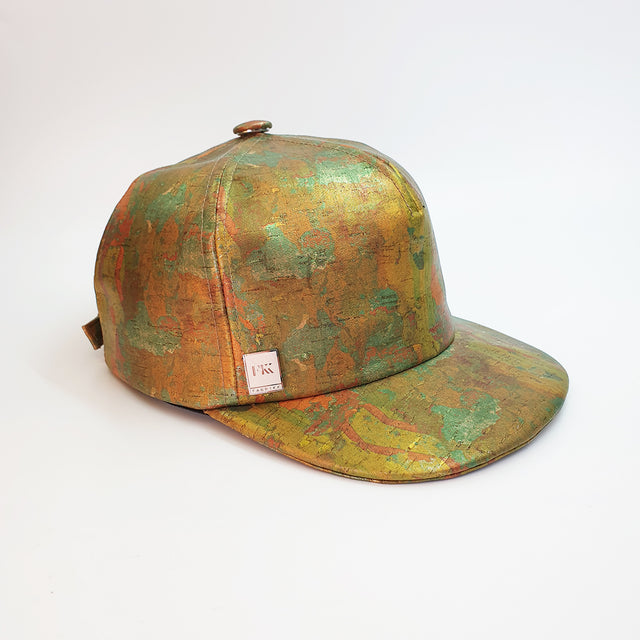 Fabrikk Cork Baseball Cap | Green Oil Slick | Vegan Leather