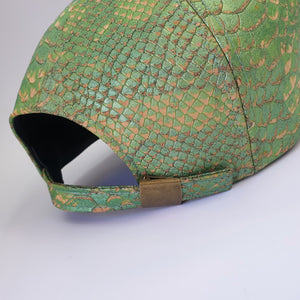 Fabrikk Cork Baseball Cap | Green Python Skin | Vegan Leather