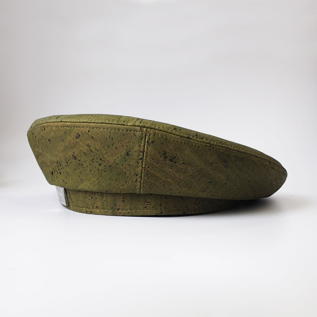 Fabrikk Cork Beret | Army Green | Vegan leather