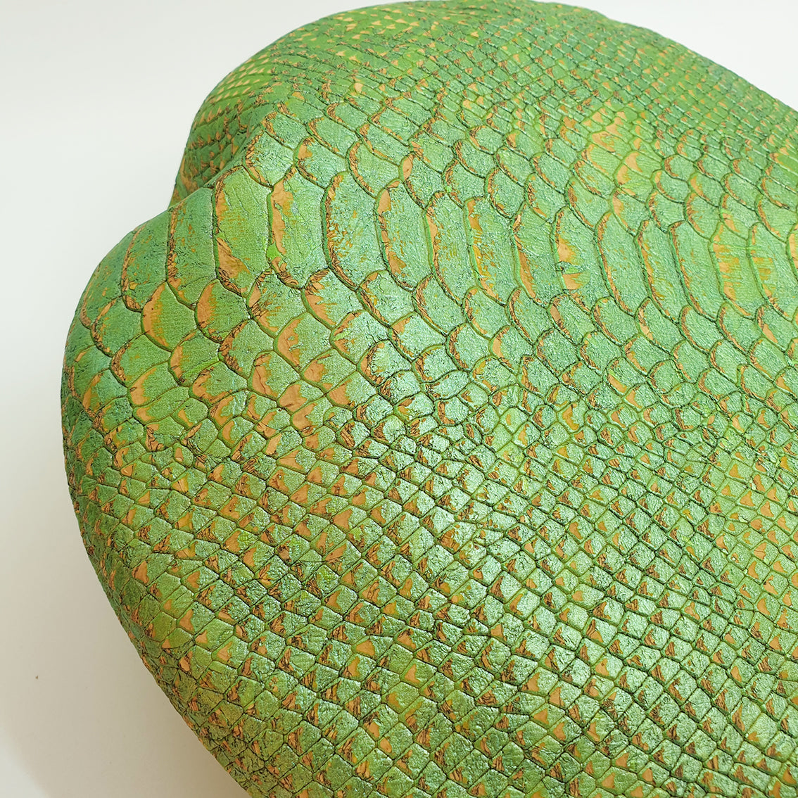 Fabrikk Cork Beret | Green Python Skin | Vegan leather