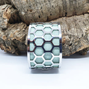 FABRIKK Interchangeable Cuff | Hexagon Honeycomb Large | Vegan 'Leather'