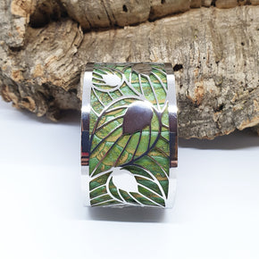 FABRIKK Interchangeable Cuff | Leaf Large | Vegan 'Leather'